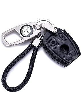 QZS Mercedes Benz Key Chain Fob Cover Shell Remote Case Bag Black For E C R CL GL SL CLK SLK