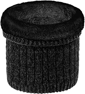 Richaa Calentador de cuello unisex, bufanda de punto cálido para invierno, con forro infinito, resistente al viento, cálid...