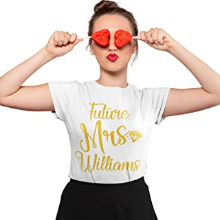 Personalized Future Mrs T-Shirt - Bride to Be Engagement Gift - Bridal Shower - Bachelorette Party