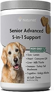 NaturVet – Senior Advanced 5-in-1 Support – Helps Support Your Senior Dog's Health – Eyes, Heart, Liver, Immune System & C...
