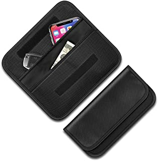 Premium Faraday Cage, Syscudo Faraday Bag Car Key Protector - RFID Signal Blocking, Anti-Theft Pouch, Anti-Hacking Case Blocker for Key Fob (Black)