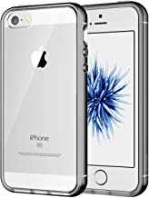 JETech Case for Apple iPhone SE, iPhone 5s, and iPhone 5, Shock-Absorption Bumper Cover, Anti-Scratch Clear Back (Grey)