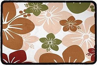 Pensura Flower Print Welcome Doormat Non Slip Washable Entrance Front Door Rug Outdoors/Indoor for Kitchen Bathroom Bedroo...