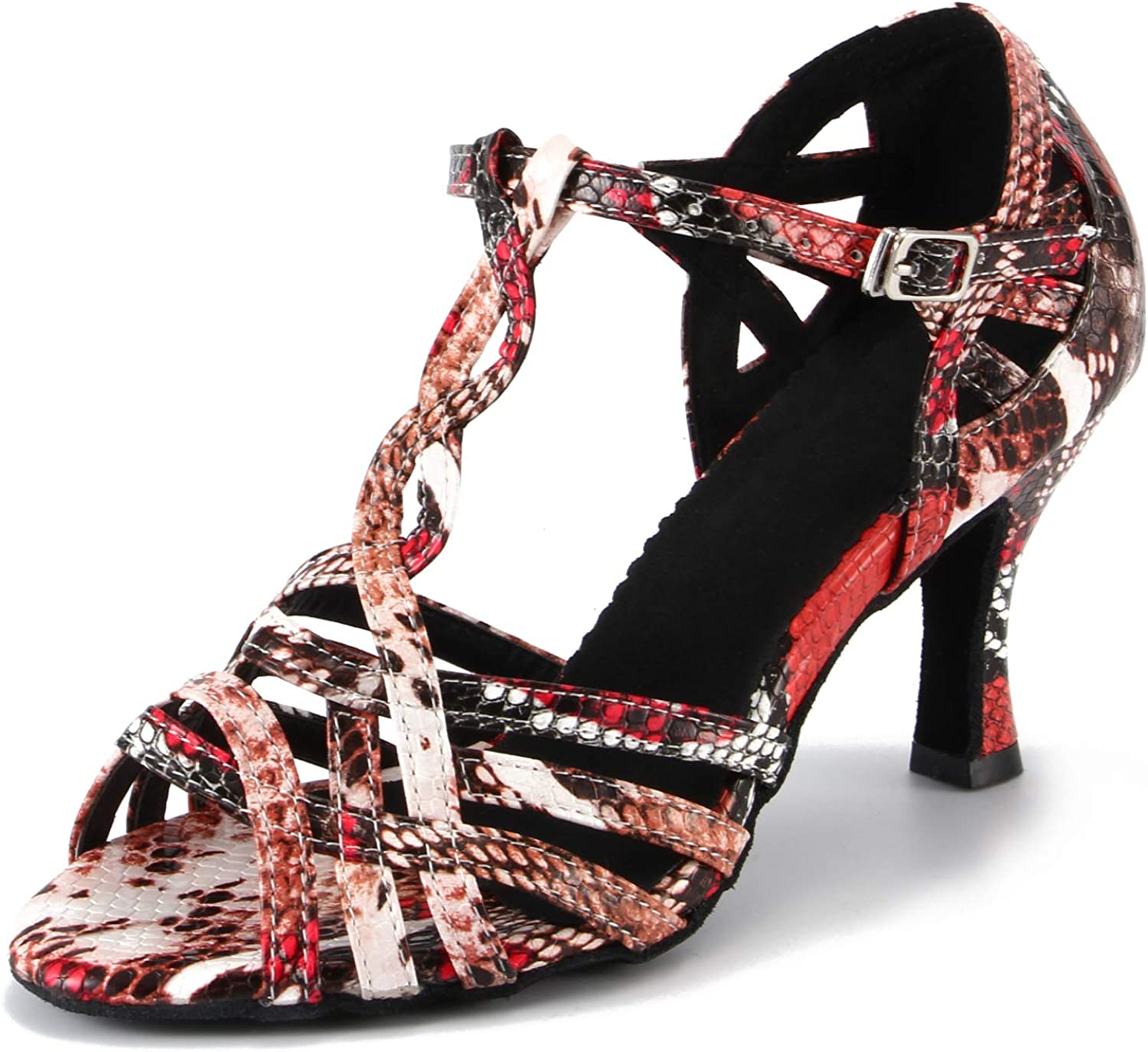 LOVELY BEAUTY Lady's Ballroom Dance Shoes for Chacha Latin Salsa Rumba Practice