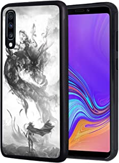 Galaxy A10E Case, Slim Anti-Scratch TPU Rubber Protective Case Cover for Samsung Galaxy A10E (2019) - Chinese Style Ink Painting Dragon
