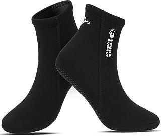 Calcetines de Neopreno de 2 mm, calcetín de Traje de Neopreno para Buceo, Snorkel y Deportes acuáticos, Calcetines Antideslizantes para Hombres Mujeres