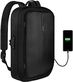 RedLemon Mochila para Laptop Antirrobo Ejecutiva, con Candado y Puerto USB para Power Bank (No Incluido), Resistente al Ag...