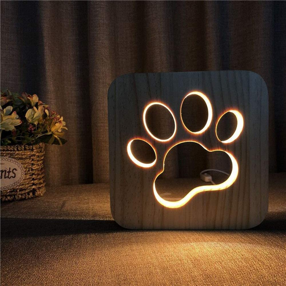 Max 66% OFF Sebktwo SALENEW very popular Cat's Claw Hollow Wooden Decorative Lamp Creative Table