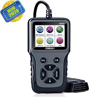 Scanner Para Vehiculos, Diagnosis Coche Multimarca, Escáner de Diagnóstico Profesional en Color Mejorado para Diagnóstico Automático del Aistema del Motor OBDII y Eliminación de Códigos de Error