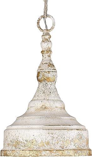 2021 Golden 2021 Lighting 0806-S AI Mini lowest Pendant, Antique Ivory sale