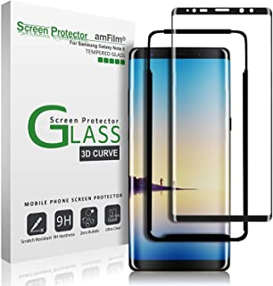 Samsung Galaxy Note 8 Full Coverage case friendly 4D tempered glass By JBQ - Black