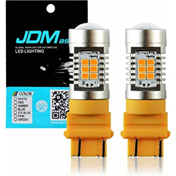 JDM ASTAR Extremely Bright PX Chips 3057 3156 3157 4057 4157 Amber Yellow Turn Signal LED Bulbs
