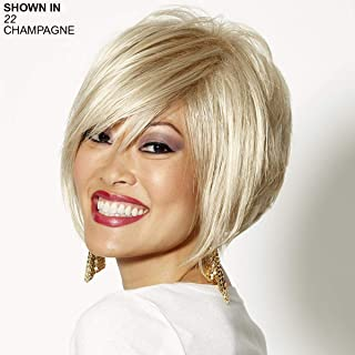 Adele Wig by WIGSHOP – Perfectly posh, trendy stacked bob wig with an edgy notched back
