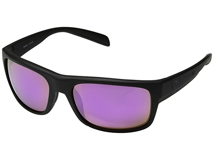Native Eyewear Ashdown (Matte Black/Violet Reflex Polarized Lens) Sport Sunglasses