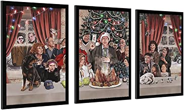 Kerst Vakantie Poster Muur Art Home Keuken Woonkamer Decoratie Canvas Frame-style1 28×40inch (70×100cm)