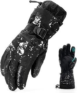 Ski Gloves Waterproof Winter Warm Gloves Cold Snowboard Gloves Touch Screen for Outdoor Sport Men Women