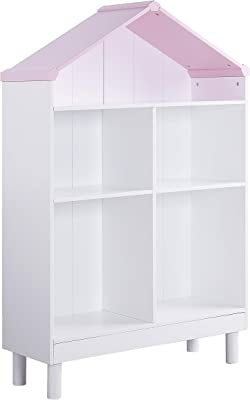 Acme Furniture Bookcase, White & Pink