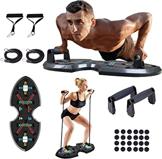 Hotwave Push Up Board, Strength Training Equipment with Resistance Band,Safe Push-Up Handle. Full Body Workout Machine , E...