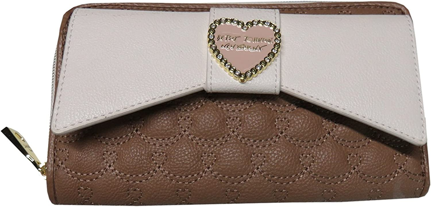 Betsey Johnson Spice And White Large Bow Wallet