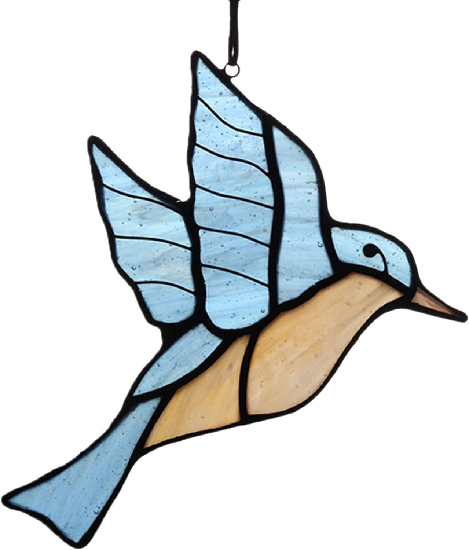 HAOSUM Blue San Jose Mall Bird Stained Glass Gift Parents Frien Suncatcher for Detroit Mall