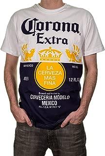 Official Corona Extra Bottle Label Print Mens T-Shirt