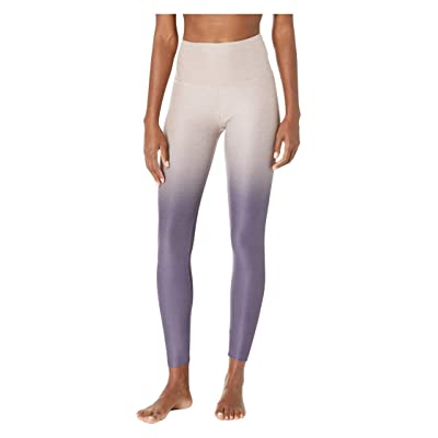 Beyond Yoga Ombre High-Waisted Midi Leggings (Wild Wisteria/Brazen Blush/Deep Amethyst Ombre) Women