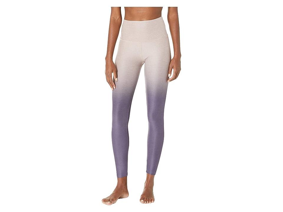 Beyond Yoga Ombre High-Waisted Midi Leggings (Wild Wisteria/Brazen Blush/Deep Amethyst Ombre) Women
