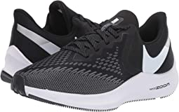 10118189622 Nike. Zoom Winflo 6.  90.00. New. Black White Dark Grey Metallic Platinum