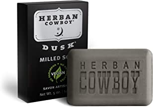 Herban Cowboy Milled Bar Soap Dusk – 5 oz (Pack of 6) | Men's Bar Soap | No Parabens, No Phthalates & Certified Vegan