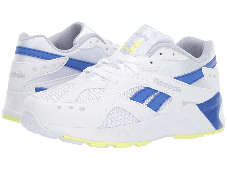Reebok Kids Aztrek (Big Kid) (White/Grey/Cobalt/Lime) Boys Shoes