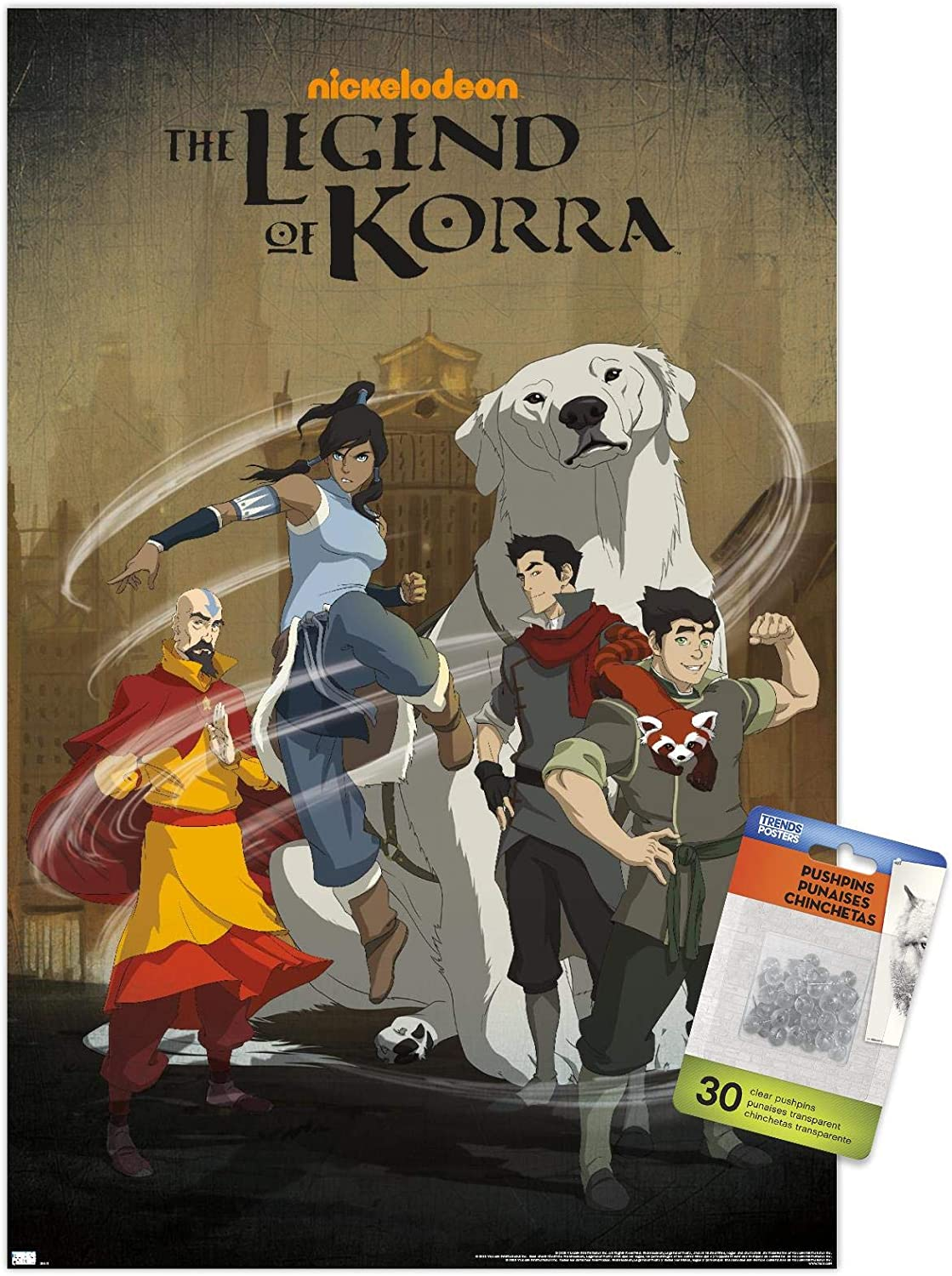 Avatar: The Legend of Korra service - Wall Push with Poster Group Max 46% OFF Pins