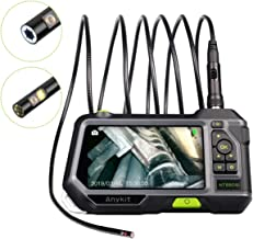 Dual Lens Endoscope Inspection Camera-Anykit NTS500 5.5mm 3 Meter Waterproof Borescope Snake Inspection Tube Camera with 5 Inch IPS Screen and Adjustable LED Lights