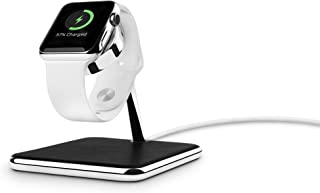 Twelve South Forte for Apple Watch   Chrome and Leather Display and Charging Stand