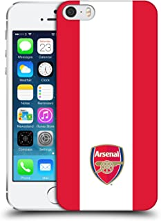 Official Arsenal FC Stripes 2 2016/17 Crest Hard Back Case Compatible for iPhone 5 iPhone 5s iPhone SE