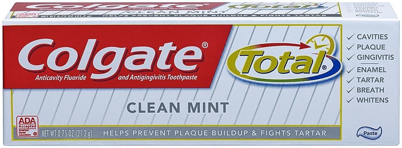 もつれアンペア豆腐Colgate 合計オリジナルの歯磨き粉、トライアルサイズ - 0.75オンス - クリーンミント