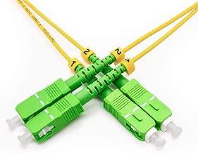 2m (6ft) SC APC to SC APC Duplex Fiber Optic Patch Cable SM - Single Mode