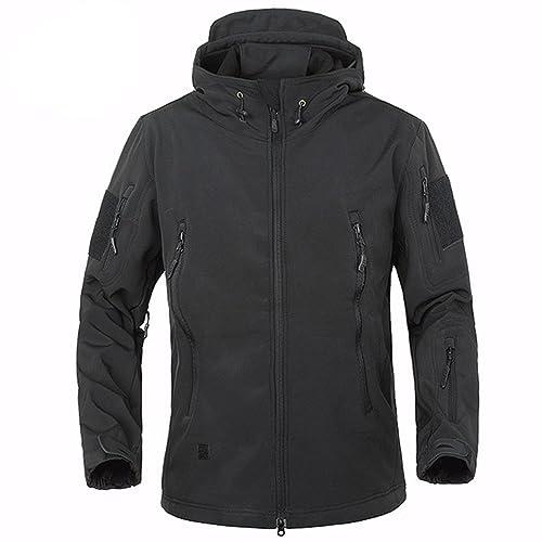 03a612c27de9 BELLOO Men Combat Jacket Waterproof Softshell Fleece Jacket With Hood