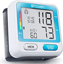 [Upgraded Model] iProven Blood Pressure Monitor Wrist - Digital BP Cuff - Blood Pressure Watch - Memory for 2x90 Measurements - Hard Case and Batteries Included - BPM-317