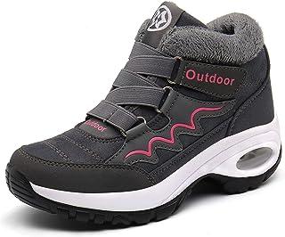 Eagsouni Basket Femme Boots Hiver Bottes Fourrees de Neige Chaussures de Sports Suède Bottines de Fitness Marche Confortab...