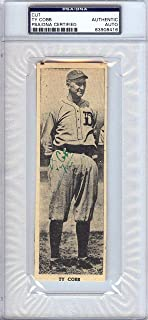 Ty Cobb Signed Photo - 2x6 Newspaper Page #83908416 - PSA/DNA Certified - Autographed MLB Photos