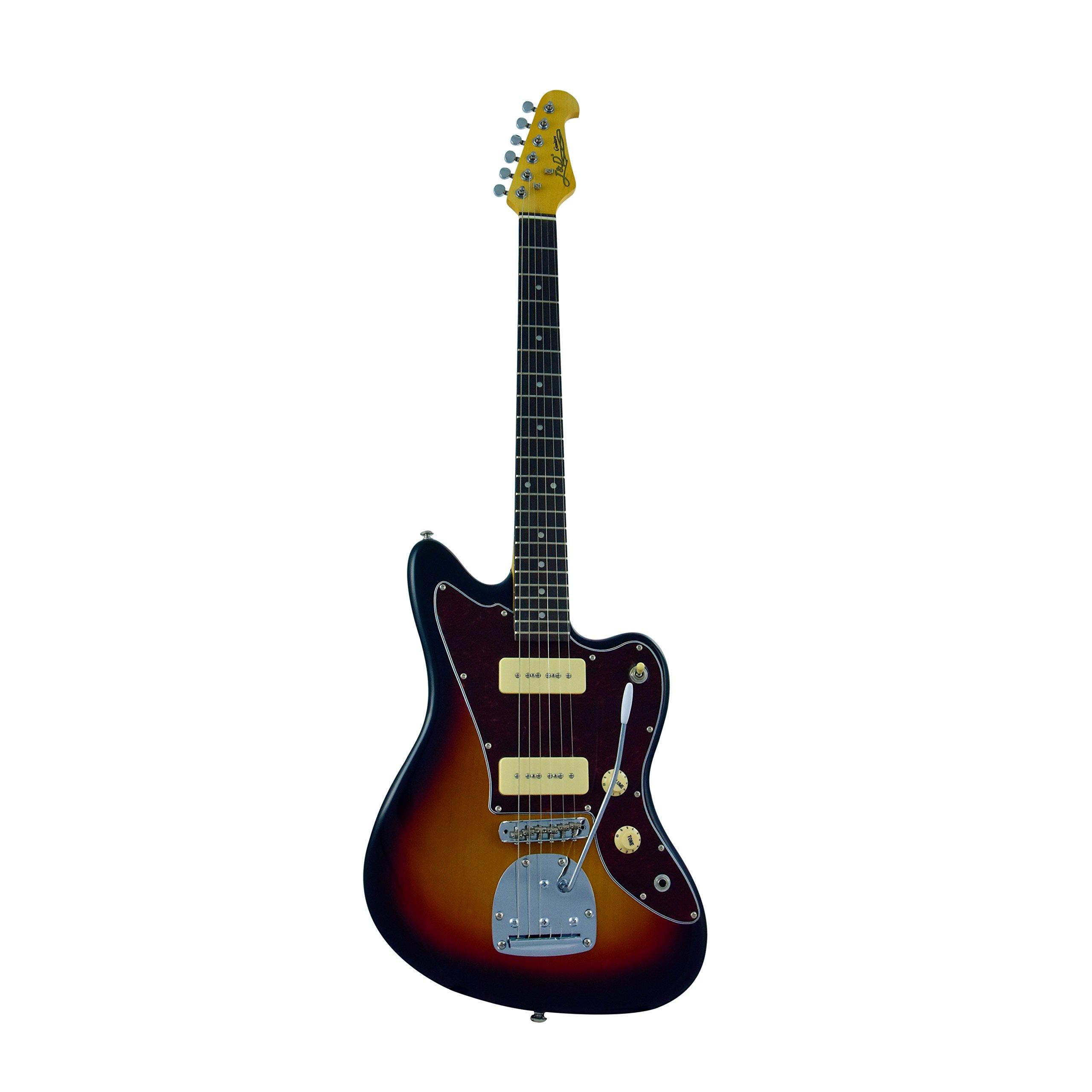 Cheap J&D JM Electric Guitar - Rosewood Fingerboard & Maple Neck Sunburst Finish by CNZ Audio Black Friday & Cyber Monday 2019