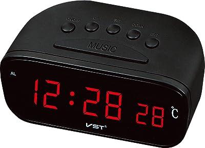LILUO LEDCLOCK Enchufe en el Reloj Digital LED Reloj de Alarma Color Azul luz Verde Claro