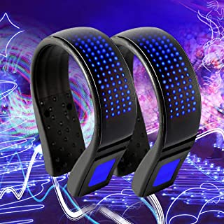 Coolnice 2 PCS Shoe Lights for Runners Clip on Safety Lights for Runners Walkers Led Shoe Clips Lights USB Charging IP67 Waterproof Reflective Gear for Runners 11 Flash Modes-Blue