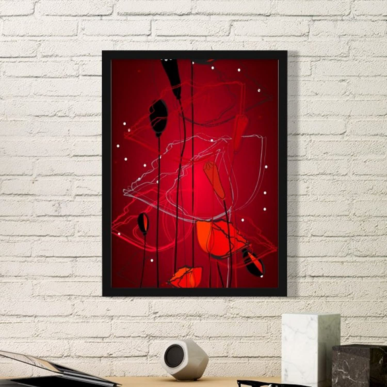 Red Flowers Abstract Abstract Abstract Art Painting Corn Poppy Art