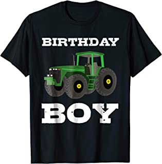 Birthday Boy Shirt Tractor T-Shirt Gift Farm Party Tee