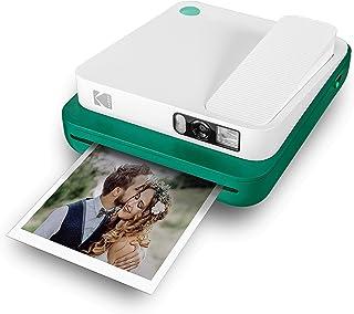 KODAK SMILE Classic Cámara Instantánea Digital c/Bluetooth (Verde) 16MP 35 impresiones p/carga – Incluye papel ZINK 35 x 425 marcos con stickers