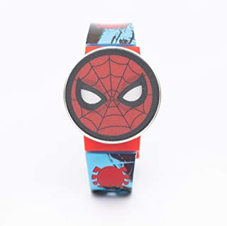 Marvel Spiderman Boys Lenticular Flip-open Cover Digital Wristwatch - TRHA4146