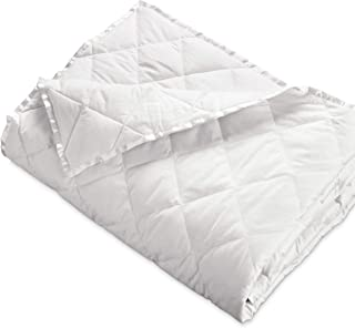 Hypoallergenic 230 TC Oversized King Down Blanket with Satin Trim - Light Weight - Perfect for Summer - Available in White & Ivory 113