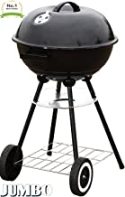 """Unique Imports #1 Jumbo Original Kettle 22"""" Charcoal Grill Outdoor Portable BBQ Grill Backyard Cooking Stainless Steel for Standing & Grilling Steaks, Burgers, Backyard Pitmaster & Tailgating"""