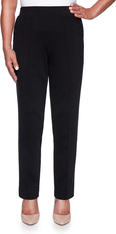 Alfred Dunner Women's Sateen Medium Length Pant